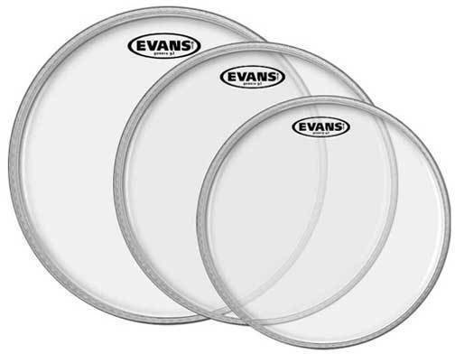 Evans G2 Clear Tom Pack-Rock (10'', 12'', 16'')