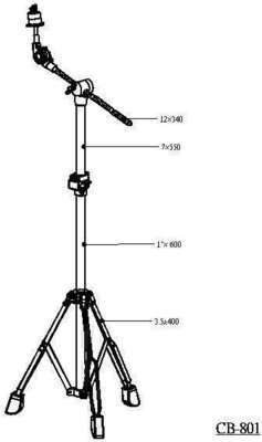 Stable CB-801 Cymbal Boom Stand