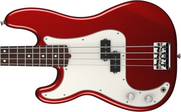 Fender American Standard Precision Bass Left Handed Mystic Red