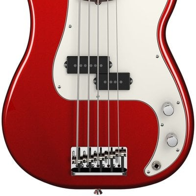 Fender American Standard Precision Bass V Five String Mystic Red