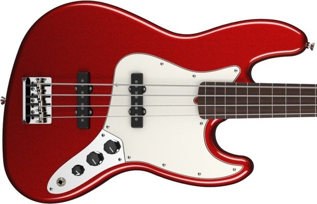 Fender American Standard Jazz Bass Fretless Mystic Red