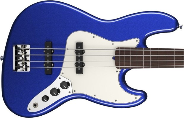 Fender American Standard Jazz Bass Fretless Mystic Blue