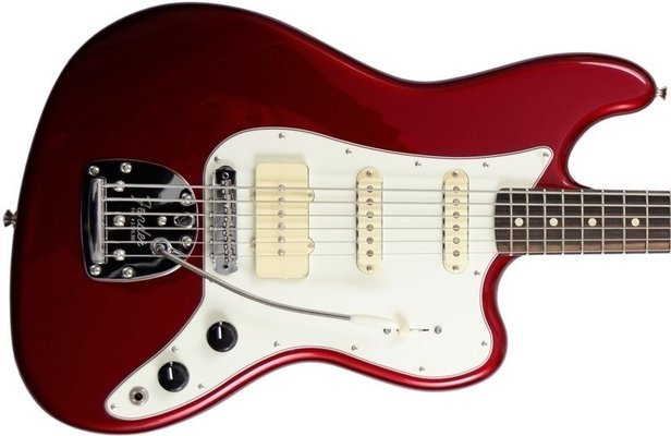 Fender Pawn Shop Bass VI Candy Apple Red