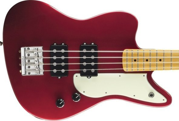 Fender Pawn Shop Reverse Jaguar Bass Candy Apple Red