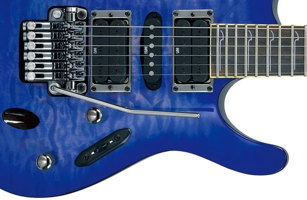 Ibanez S 570DXQM Bright Blue Burst