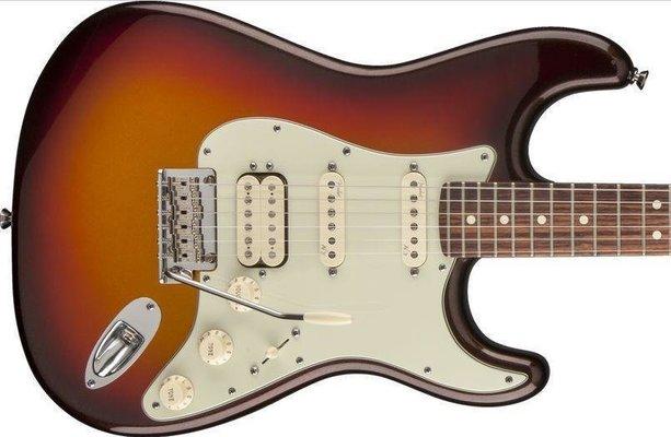 Fender American Deluxe Stratocaster Plus HSS, Maple Fingerboard, Mystic 3-Color Sunburst