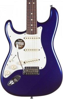 Fender American Standard Stratocaster, Left Handed, Rosewood Fingerboard, Mystic Blue