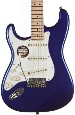 Fender American Standard Stratocaster, Left Handed, Maple Fingerboard, Mystic Blue