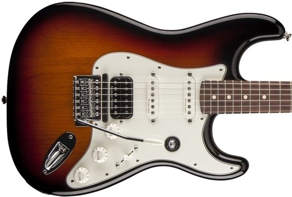 Fender Fishman Triple Play Deluxe Stratocaster HSS, Rosewood Fingerboard, 3-Color Sunburst