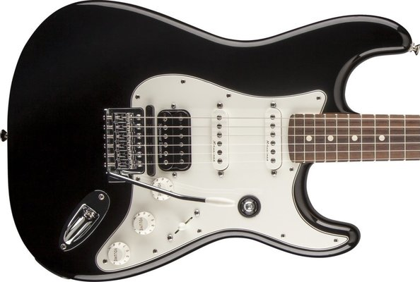 Fender Fishman Triple Play Deluxe Stratocaster HSS, Rosewood Fingerboard, Black
