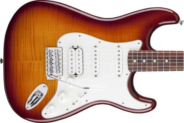 Fender Standard Stratocaster HSS PlusTop, Rosewood Fingerboard, Tobacco Sunburst