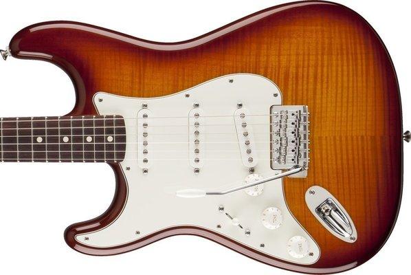 Fender Standard Stratocaster Plus Top Left Handed, Rosewood Fingerboard, Tobacco Sunburst