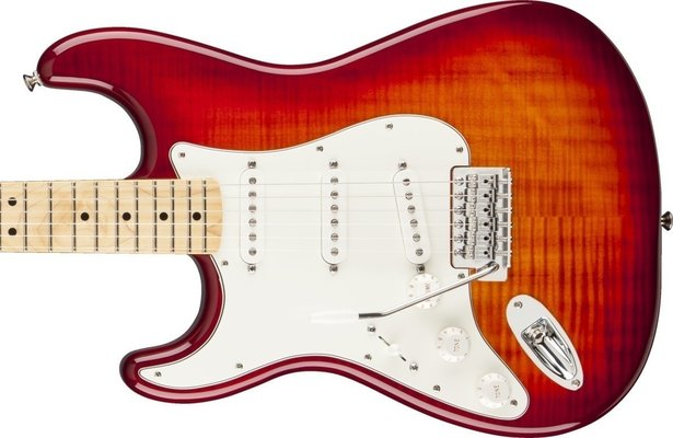 Fender Standard Stratocaster Plus Top Left Handed, Maple Fingerboard, Aged Cherry Burst