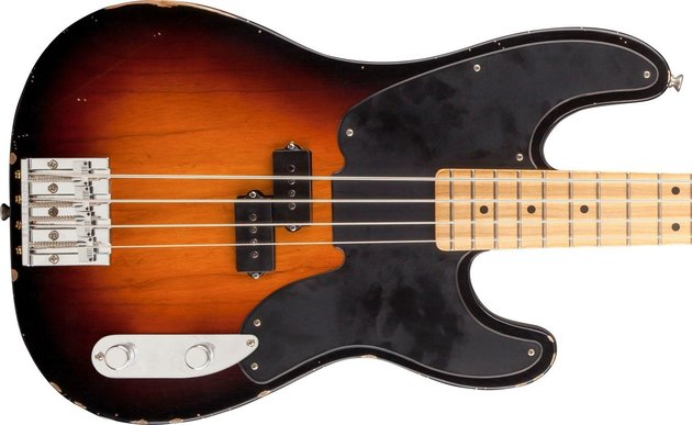 Fender Mike Dirnt Road Worn Precision Bass Maple Fingerboard, 3-Color Sunburst