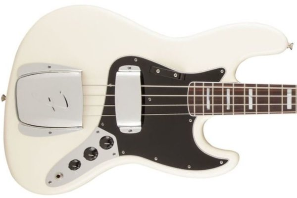 Fender American Vintage '74 Jazz Bass, Bound Round-Laminated Rosewood Fingerboard, Olympic White