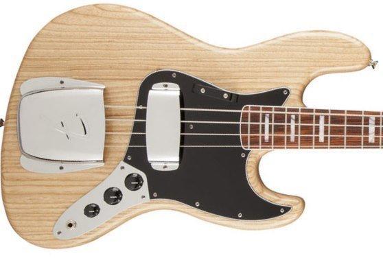 Fender American Vintage '74 Jazz Bass, Bound Round-Laminated Rosewood, Natural