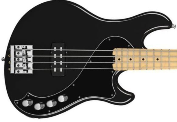Fender American Deluxe Dimension Bass IV, Maple Fingerboard, Black