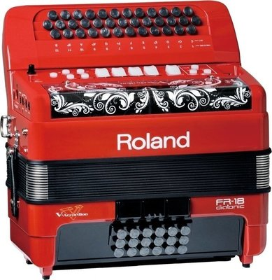 Roland FR18D-RD V-Accordion Diatonic Red
