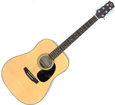 SX SA1 Acoustic Guitar Kit Natural