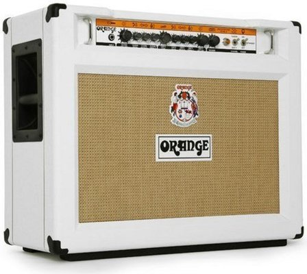 Orange Rockerverb 50C MKII 212 Combo, Limited Edition White