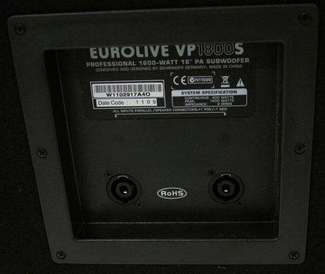 Behringer VP1800S Eurolive