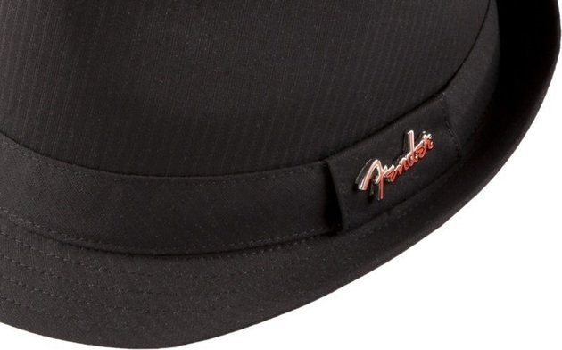 Fender Fedora Black Self Stripe with Pin