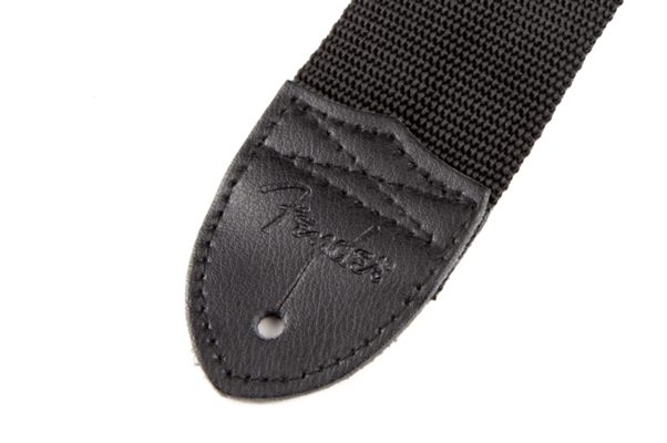 Fender Black Polyester Grey Logo Strap