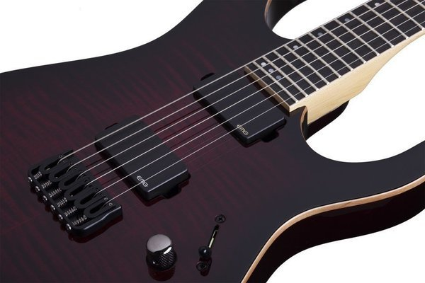 Schecter Banshee-6 Active Crimson Red Burst
