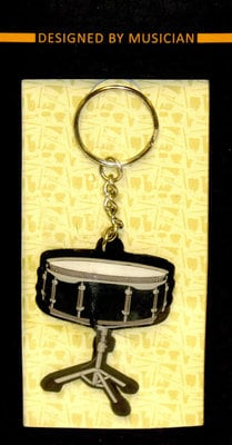 Musician Designer Music Key Chain Snare Drum