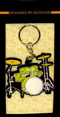 Musician Designer Music Key Chain Drum Set Green