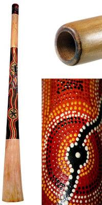 Terre Teak Wood Didgeridoo Painted 130 cm