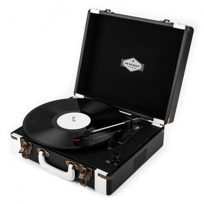 Auna Jerry Lee Retro Record Player Turntable LP USB BW