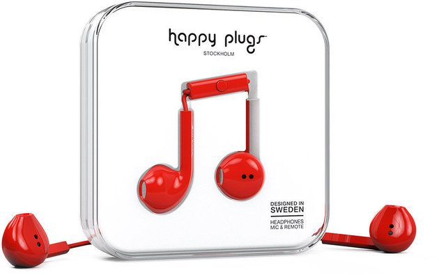 Happy Plugs Earbud Plus Red