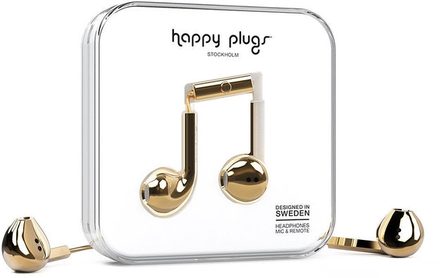 Happy Plugs Earbud Plus Gold Deluxe Edition
