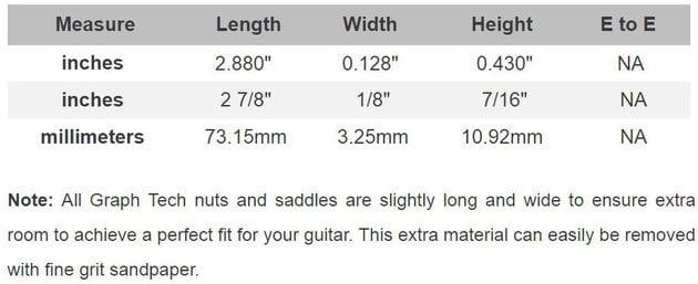 Graphtech PQ-9280-C0 TUSQ Acoustic Saddle Compensated