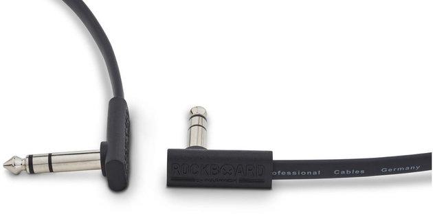 RockBoard Flat TRS Cable 30 cm Black