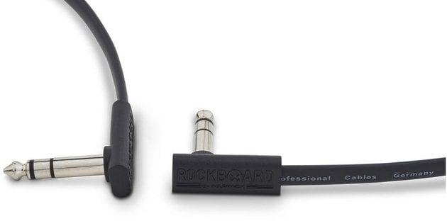 RockBoard Flat TRS Cable 15 cm Black
