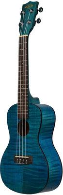 Kala Exotic Mahogany Concert Ukulele Blue with Bag