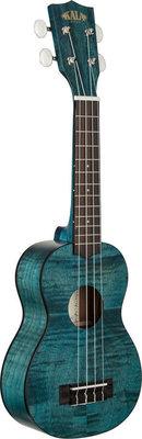 Kala Exotic Mahogany Soprano Ukulele Blue with Bag