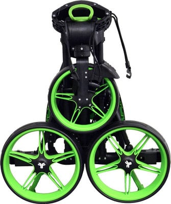Fastfold Flat Fold Black/Lime Golf Trolley