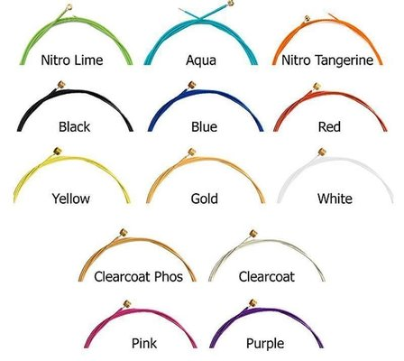 Aurora Premium Electric Guitar Strings Extra Heavy 12-52 White