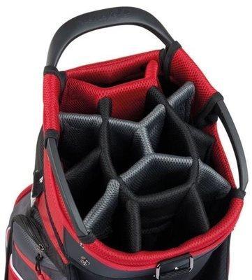 Taylormade Pro Cart 6 Black/Charcoal/Red Cart Bag 2018