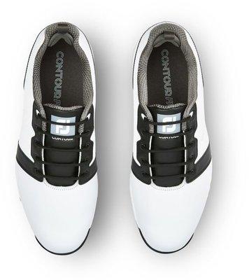Footjoy Contour Fit Mens Golf Shoes White/White/Black US 8