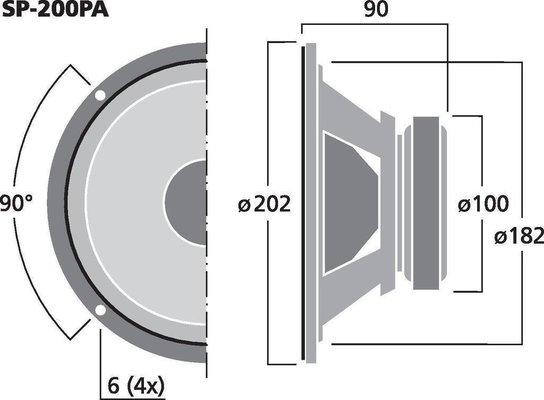 Monacor SP-200PA