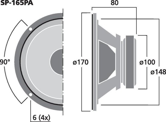 Monacor SP-165PA