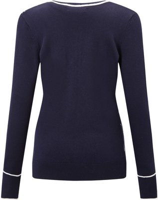 Callaway Jacquard Sweater Peacoat XS Womens