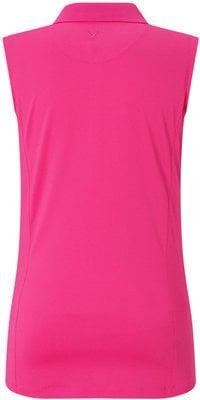 Callaway Sleeveless Micro Hex Polo Pink Yarrow XXL Womens