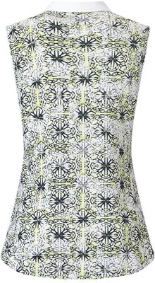 Callaway Kaleidoscope Print Polo Green M Womens