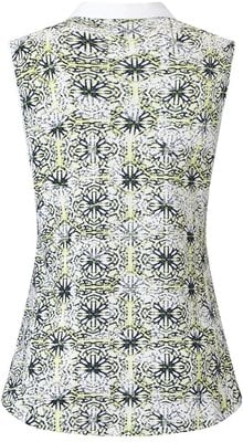 Callaway Kaleidoscope Print Polo Green XS Womens