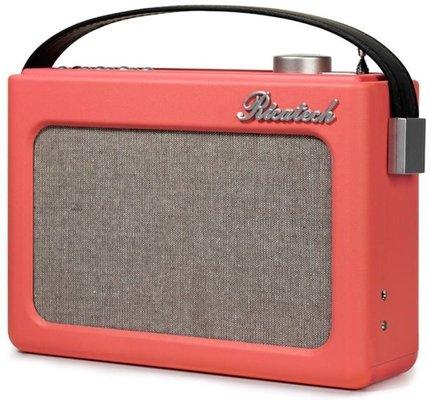 Ricatech PR78 Emmeline Vintage Radio Salmon Pink